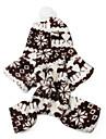 Коты / Собаки Толстовки / Комбинезоны Коричневый / серый Одежда для собак Зима В снежинку Сохраняет тепло