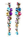 Colorful Crystal Long Tail Drop Earrings