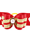 Golden Ribbon stil Tiny Rubber Band Hair Bow for Dogs Cats