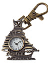 Unisex Sailing Design Alloy Analog Quartz Keychain Watch (Bronze)