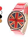 Женские аналоговые кварцевые наручные часы с изображением флага Великобритании и ремешком из кожзама (разные цвета)