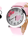 Women's Quartz Analog Heart Pattern Dial PU Band Wrist Watch (Assorted Colors) Cool Watches Unique Watches