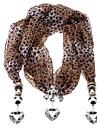 Z&X®  Leopard Pattern Round Pendant carf Necklace