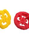 lotus raiz rebanada estilo de limpieza verde loofah juguetes para mascotas diente (color al azar)