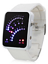 Color Band 29 Blue and Red LED Sector Pattern LED Wrist Watch