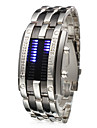 Men\'s Watch Blue LED Digit Display Steel Band