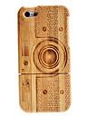 Retro Pattern Camera Case amovible en bois pour iPhone 5