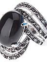 Овальный камень Античный Серебряное кольцо