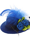 Pets Lovely Lace Flower Billycock Style Hairpin for Dogs Cats (Assorted Color)