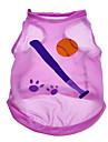 Dog Shirt / T-Shirt Purple Summer Sport