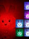 kristal tavşan şeklinde renk açtı gece lambası (usb) değiştirme
