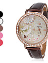 Women's Quartz Analog High Heel Pattern Diamond Case PU Band Wrist Watch (Assorted Colors) Cool Watches Unique Watches