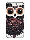 Relief Cute Owl Pattern Hard Case for iPhone 4/4S (Multi-color)
