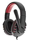 SOUND VEN høj kvalitet USB Plug Audio Stereo Headphone SH-010 (rød og sort)