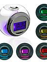 Réveil Rond à LED Colorée, avec Calendrier, Thermomètre, Minuterie (3xAAA)