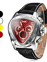 Men's Triangle Style Auto-Mechanical Tourbillon Leather Band Watch Cool Watch Unique Watch