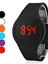 Herre Armbåndsur Digital LED / Touchscreen / Kalender Silicone Band Sort / Hvid / Rød / Orange / Grøn / Lilla Brand-