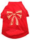 Dog Shirt / T-Shirt Red Dog Clothes Summer Bowknot