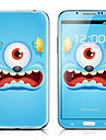 SX-085 Monster Pattern Front and Back Protector Stickers for Samsung Note 2 N7100