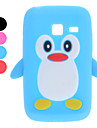 3D Design Penguin Pattern Soft Case for Samsung Galaxy Y Duos S6102 (Assorted Colors)