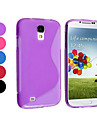 Pure Color Soft Case TPU para Samsung i9500 Galaxy S4 (cores sortidas)