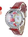 Женские и полимерная глина девушки диван Стиль PU Аналоговые кварцевые наручные часы (разных цветов)