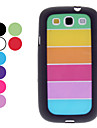 Transparent Colorful Pattern Hard Case, Displayschutzfolie fuer Samsung Galaxy S3 I9300 (verschiedene Farben)