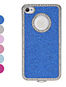 Diamond Frame Shimmering Powder Hard Case fuer iPhone 4/4S (verschiedene Farben)
