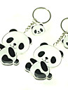 1 Pair Lovely Panda Keychain Black & White