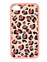 Pink Leopard Print Sliding Hard Case with Detachable Back for iPhone 4 - White + Pink