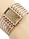 Women's Hollow Engraving Square Dial Steel Band Quartz Analog Wrist Watch (Assorted Colors)