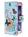 Para Samsung Galaxy Capinhas Porta-Cartão / Com Suporte / Flip / Estampada Capinha Corpo Inteiro Capinha Borboleta Couro PU Samsung S4