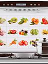 75x45cm fruta& legumes padrao hot-prova a prova de agua adesivo de parede a prova de oleo de cozinha