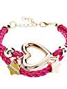 Frauenpentagramm Liebe geflochten Armband