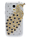 Bling Bling Peacock Design Hard Case with Rhinestone for Samsung Galaxy S4 Mini I9190