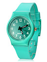 Frauen Solid Color Dial Silikon-Band Quarz Analog-Armbanduhr (farbig sortiert)