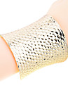 European Style Gold Plated Fish Scale Shape Bangle Cuff Bracelet