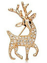женская красивые сверкающие олени бриллиантовая брошь x28