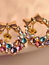 z&x® Super Flash coloré colourful boucles d'oreilles en diamant arc