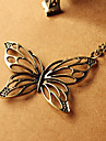 Retro hollow out butterfly necklace Korean long paragraph sweater chain pendant N474