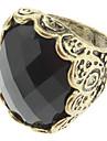 Vintage mujer embutido diamante del anillo