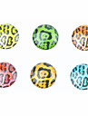 Leopard Resin Button Sticker (6 PCS)