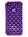 DEVIA Solid Color 3D Diamond Pattern TPU Soft Case for iPhone 4/4S (Optional Colors)