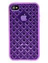 DEVIA Solid Color teste padrao do diamante TPU Soft 3D para iPhone 4/4S (opcional Cores)