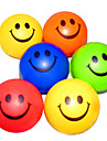 Happy Face modelado pelotas de goma anti-stress (color al azar)