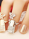 Кольца на вторую фалангу Стразы Сплав Мода Золотой Бижутерия Для вечеринок Повседневные 1шт