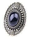 anillos de la vintage mujer salvaje ovales de piedras preciosas (color al azar)