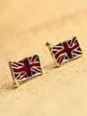 Rétro petites oreilles mot m drapeau britannique Boucles d'oreilles E130