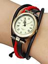 Women\'s Vintage Elliptical Dial Plaited Band Bracelet Watch (Assorted Colors)