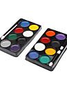 8 couleurs Clown Kit de peinture de visage (couleur aléatoire)